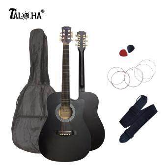 Harga Taloha Acoustic Cutaway Matte Guitar 38 inch SuperValue Package with Bag, Strings, Strap and 2 Picks (Black)