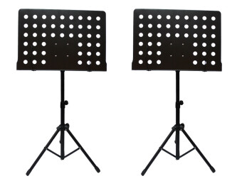 Harga [2 in 1 value pack] Heavy Duty Music Stand for Orchestra, Conductor, Violin, Keyboard, Guitar, Ukulele & Food Menu(High Quality)
