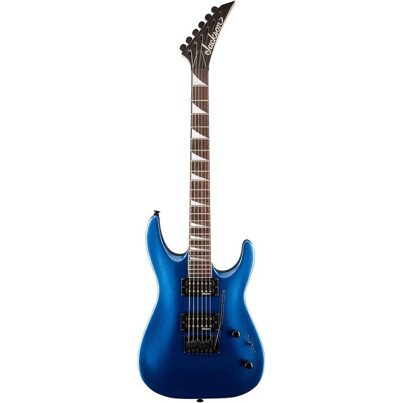 Jackson JS22 Dinky Arch Top JS Series Electric Guitar, 24 Fret Rosewood FB w/2-Point Fulcrum Tremolo (Metallic Blue) Malaysia