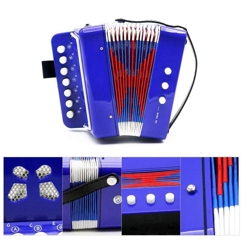 Kids Children 7-Key 2 Bass Mini Small Accordion Educational Musical Instrument Rhythm Band Toy Blue Outdoorfree Malaysia