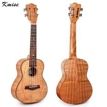 Kmise Tiger Flame Classical Guitar Head Concert Ukulele SolidOkoume Body 23 Ukelele Hawaii Guitar for Music Lover