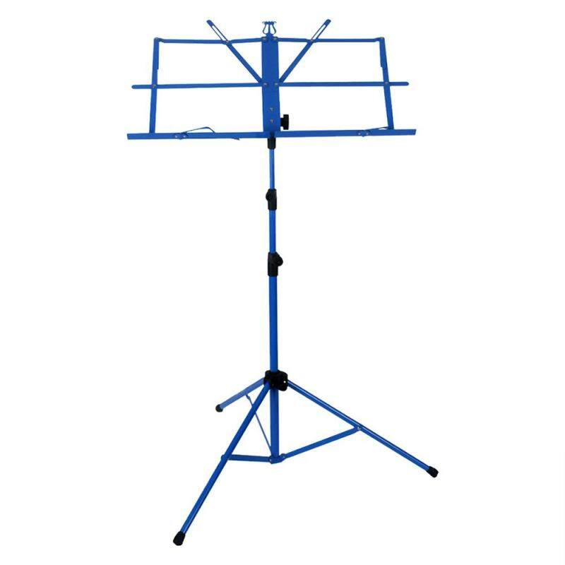 Lightweight Sheet Music Metal Stand Holder Folding Foldable with Waterproof Carry Bag Blue ^ Malaysia