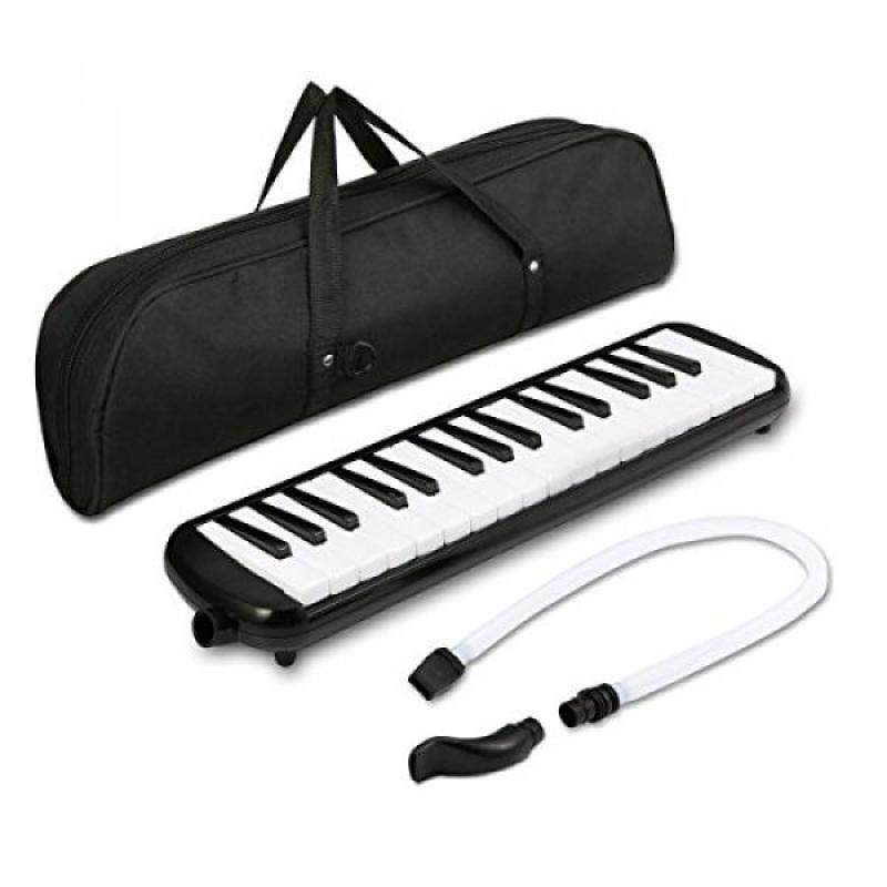 Melodica instrument - NASUM 32 Key Piano Style Melodica,Melodica keyboard Suitable for Teaching and Playing,with Carrying Case (Black) Malaysia