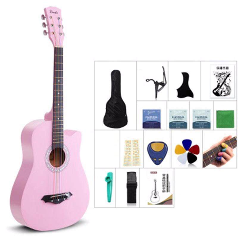 Mimosifolia 38 Inch Beginner Folk Guitar(Burlywood, 96CM, Pink) Malaysia