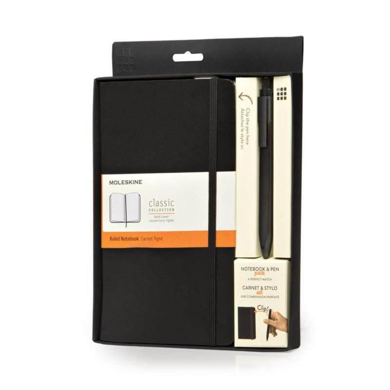 Moleskine Bundle Large Ruled Black Notebook With Pen Malaysia