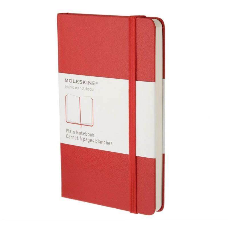 Moleskine Plain Red Notebook - Pocket - Red Hard Cover Malaysia