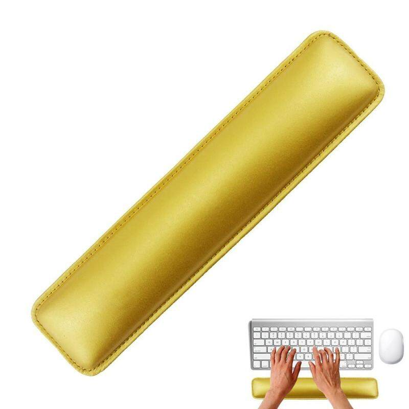moob Gold Luxury PC Laptop PU Leather Wrist Rest With Meomery Foam For Standard Keyboards Malaysia