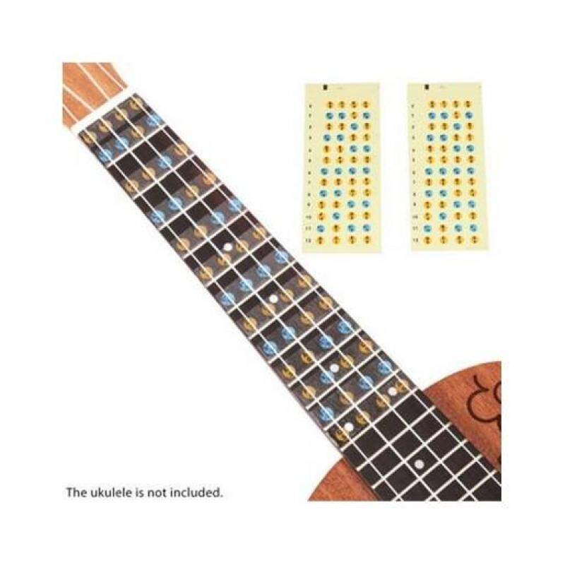 MULTICOLOR UKULELE FINGERBOARD NOTE DECALS FRETS STICKERS FOR BEGINNERS (YELLOW) Malaysia
