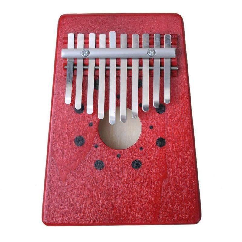 noonbof 10 Key Finger Piano Kalimba Mbira Likembe Sanza Thumb Piano (Red) Malaysia