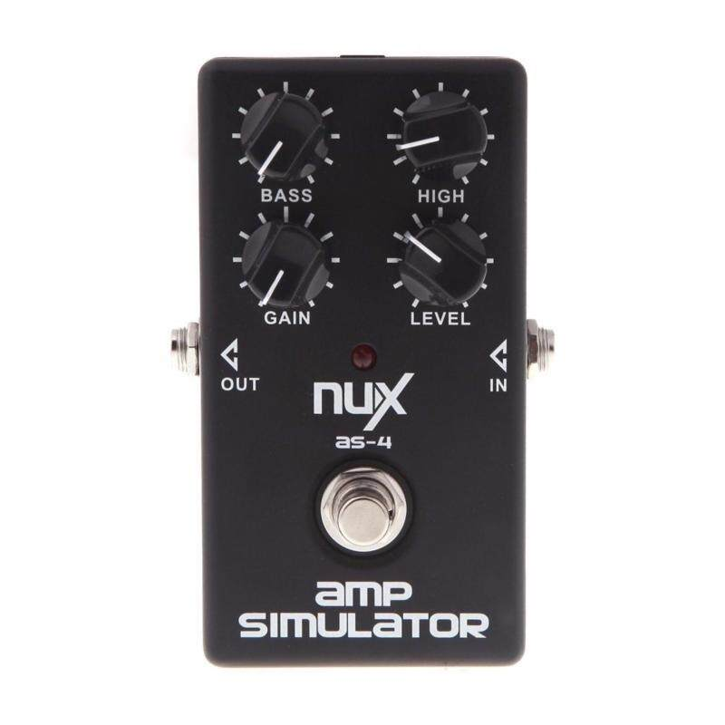 NUX AS-4 Amplifier Simulator Violao Guitar Electric Effect Pedal True Bypass Black Musical Instrument Parts Electronic Malaysia