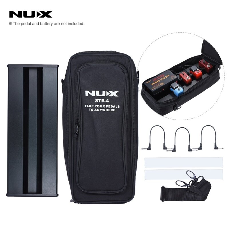 NUX STB-4 Aluminum Alloy Guitar Effect Pedal Board with Portable Carring Bag Case Box / 2 Fastener Tape / 3 Cables Malaysia