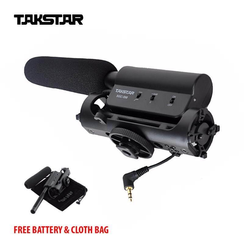 [ORIGINAL] TAKSTAR SGC-598 Recording Conderser Microphones + Free Battery & Cloth Bag Malaysia