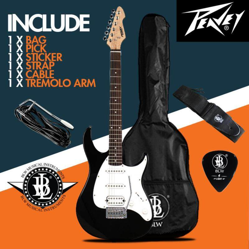 Peavey Raptor Plus Electric Guitar Starter Beginner Pack comes with Bag, Cable, Strap, Pick and Merchandise Sticker Malaysia