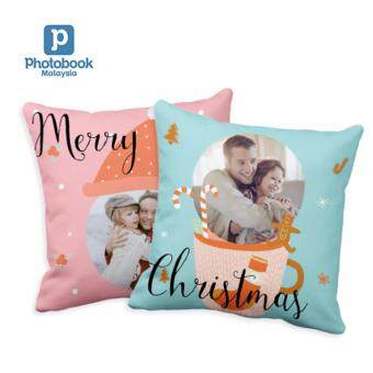 "Photobook Malaysia 16"" x 16\"" Photo Pillow - Couple Set"