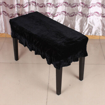 Piano Stool Chair Bench Cover Pleuche Decorated with Macrame 75 x 35cm for Piano Dual Seat Bench Universal