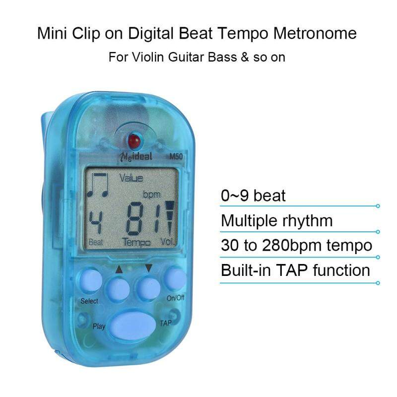 Professional Clip on Digital Beat Tempo Metronome LCD Screen Lightweight & Mini for Violin Guitar Bass Musical Instrument Blue Outdoorfree Malaysia