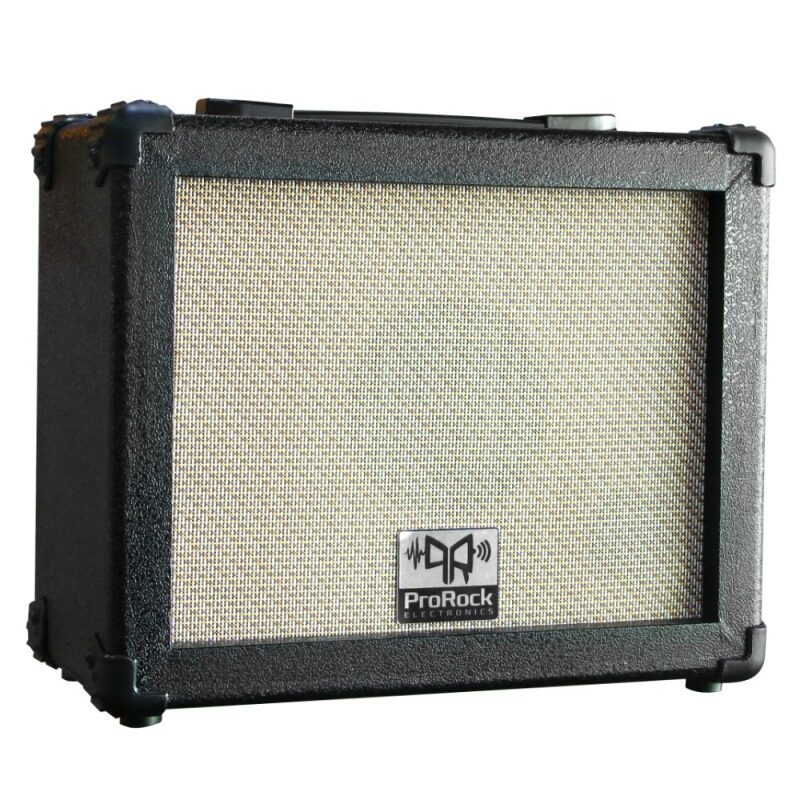 ProRock 15 Watt 2 inputs Electric Guitar Amplifier with Equalizer and Boost Effect Amp (Black) Malaysia