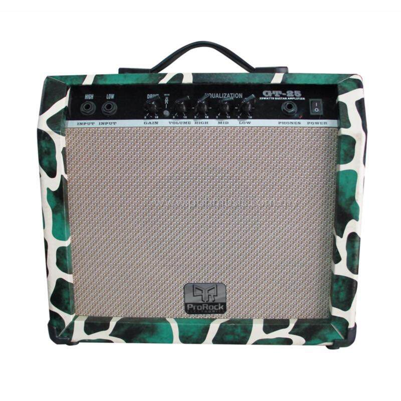 ProRock 25 Watt 2 inputs Electric Guitar Amplifier with Equalizer and Gain Overdrive Effect Amp (Green) Malaysia