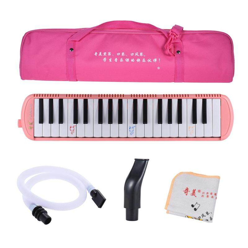 QIMEI QM37A-7 37 Piano Style Keys Melodica Musical Education Instrument for Beginner Kids Children Gift with Carrying Bag Pink Malaysia