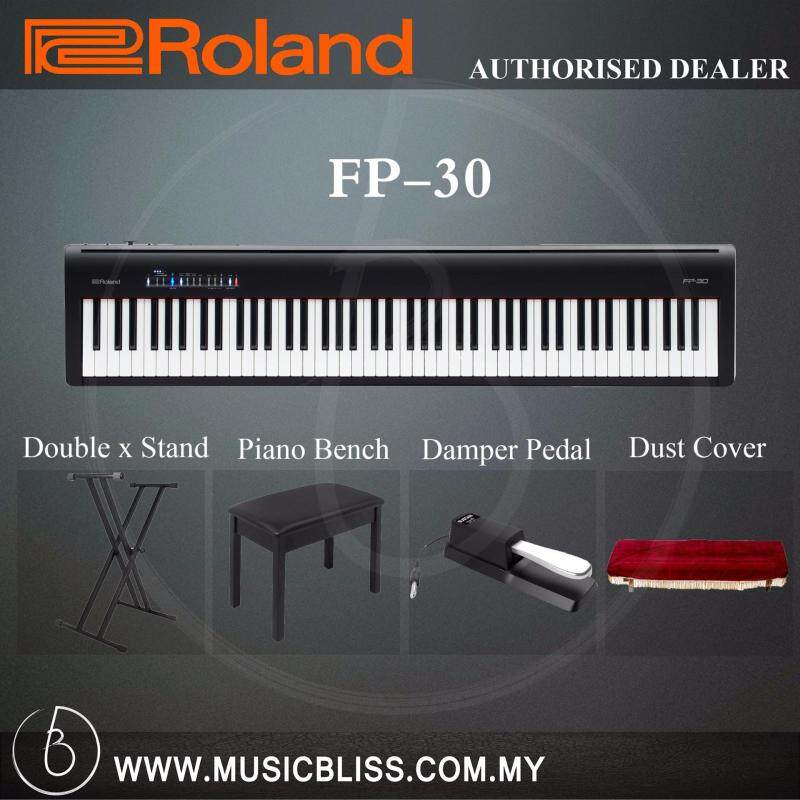 Roland Fp 30 Digital Piano Musician Package Black Fp30 Malaysia