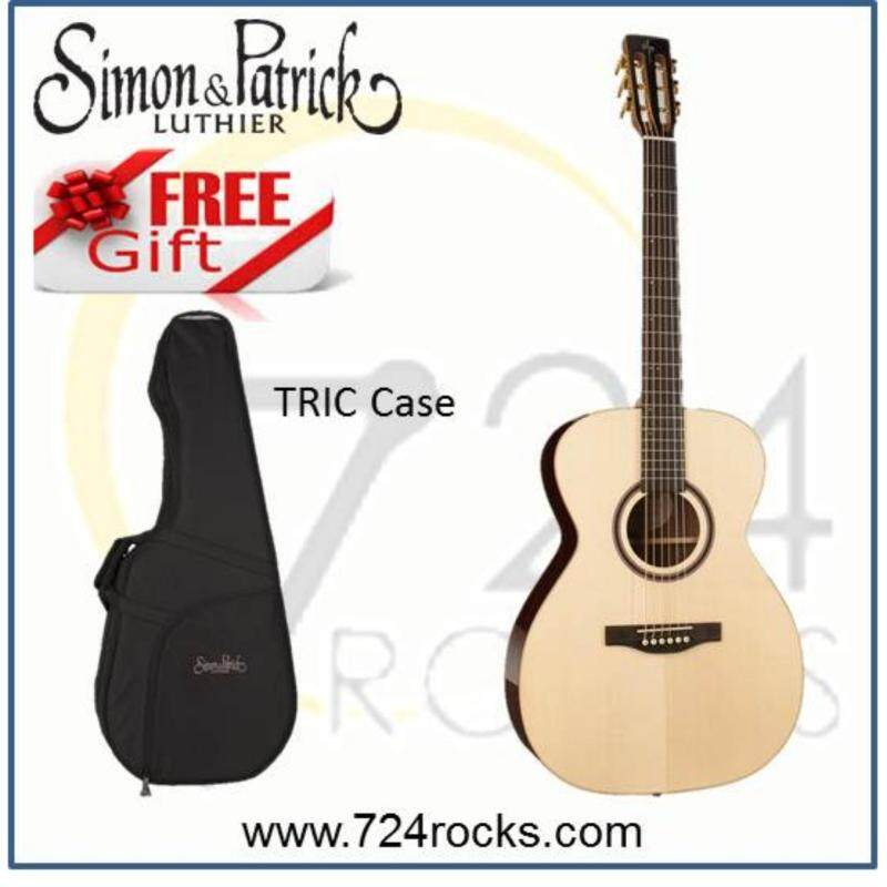 Simon & Patrick Canada Showcase Rosewood Concert Hall Premium Full Solid Acoustic Guitar Free TRIC Case Malaysia