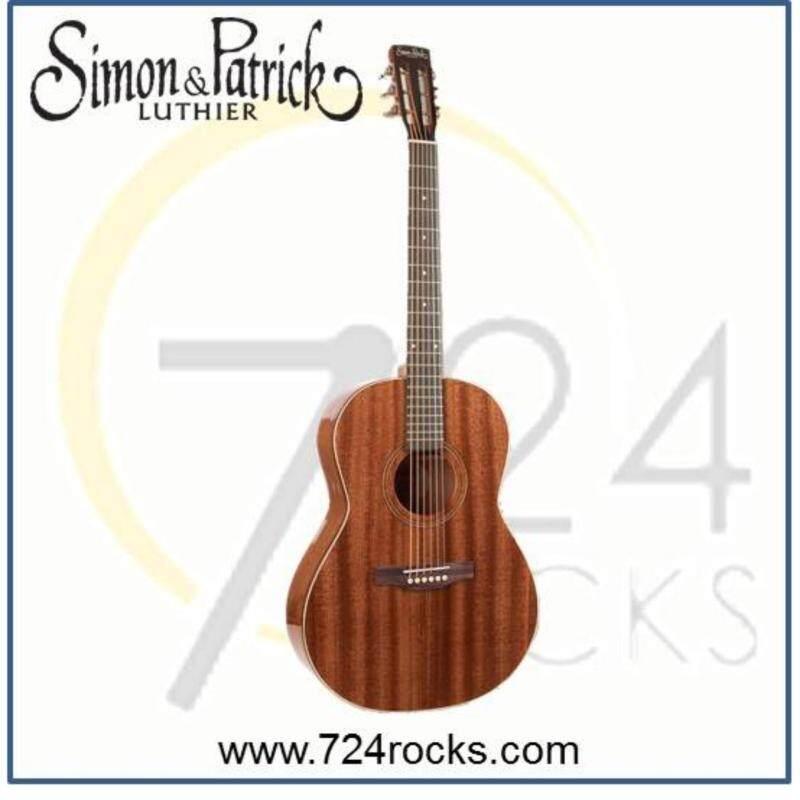 Simon & Patrick Canada Woodland Pro Folk Mahogany Full Solid Acoustic Guitar Malaysia