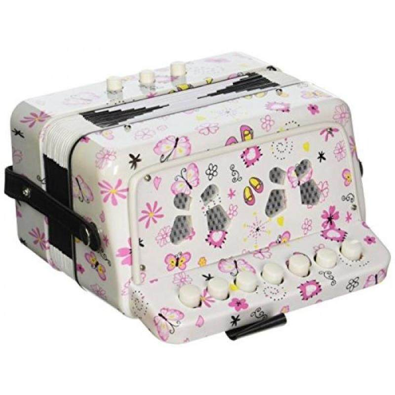 SKY Accordion Butterfly Pattern 7 Button 2 Bass Kid Music Instrument Easy to Play Malaysia
