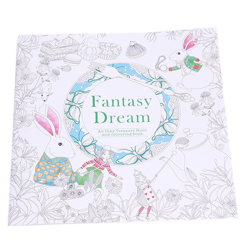 SWorld Secret Garden Nella Fantasia Coloring Book Black And White Malaysia