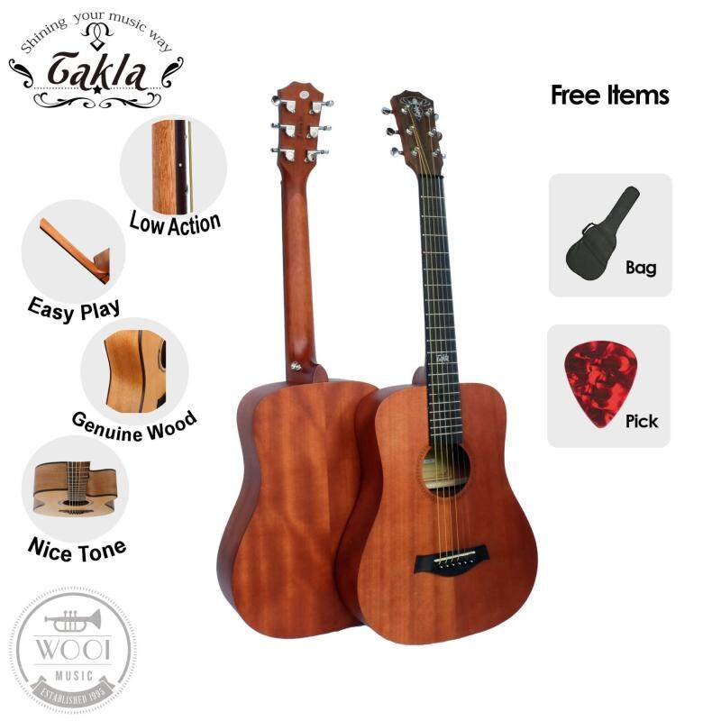Takla M100 Acoustic Guitar 34 Package A (FREE Bag & Picks) (Full Mahogany Malaysia