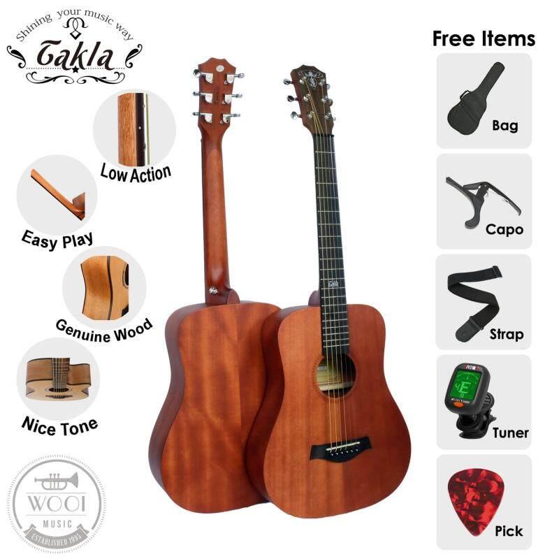 Takla M100 Acoustic Guitar 34 Package B (FREE Bag, Picks, Strap,Guitar Tuner & Capo) (Full Mahogany) Malaysia