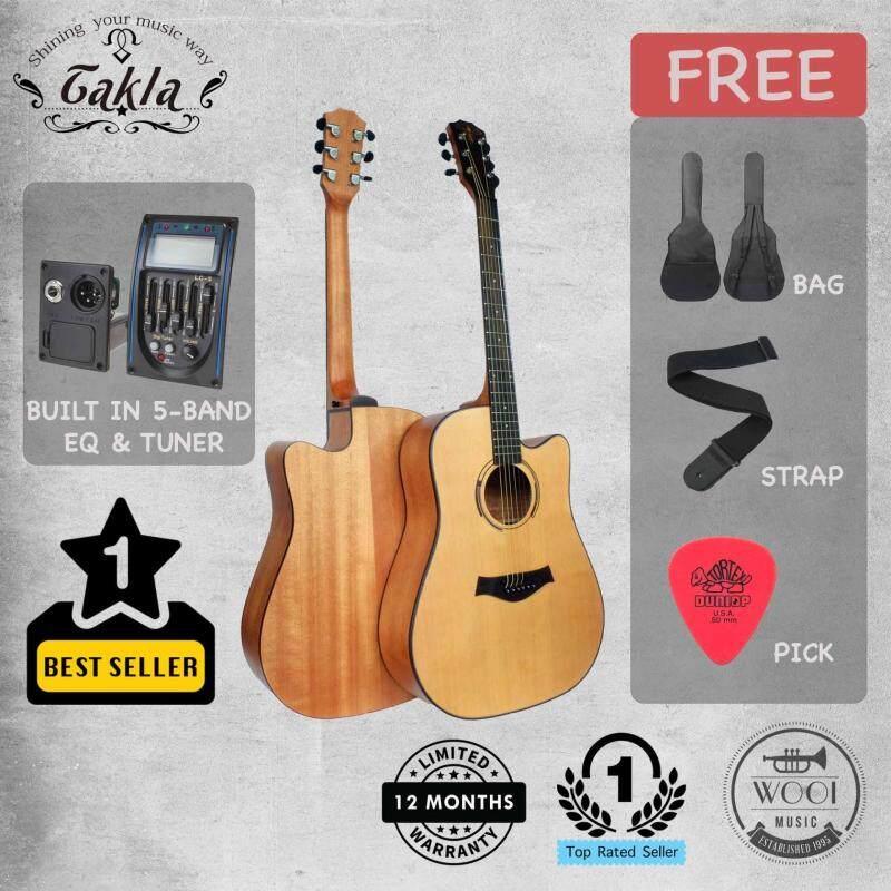 Takla M320E Acoustic Guitar 41 built in EQ & Tuner (FREE bag, strap & pick) Malaysia