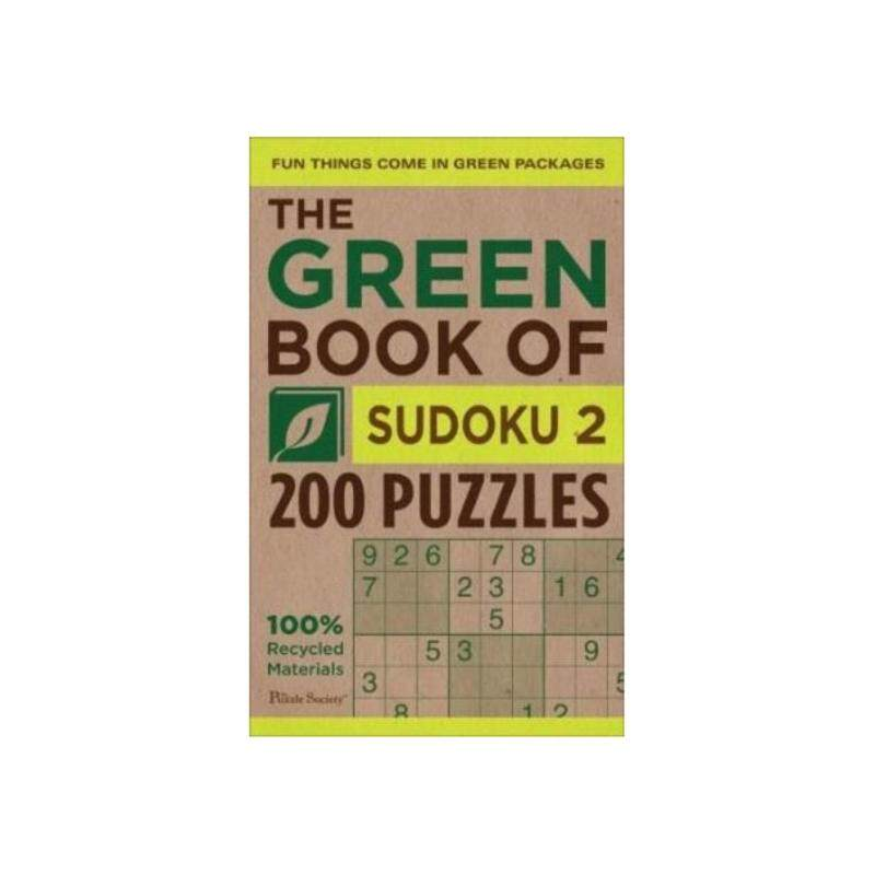 The Green Book of Sudoku 2: 200 Puzzles ISBN: 9780740791161   Author By : Puzzle Society (COR) Malaysia
