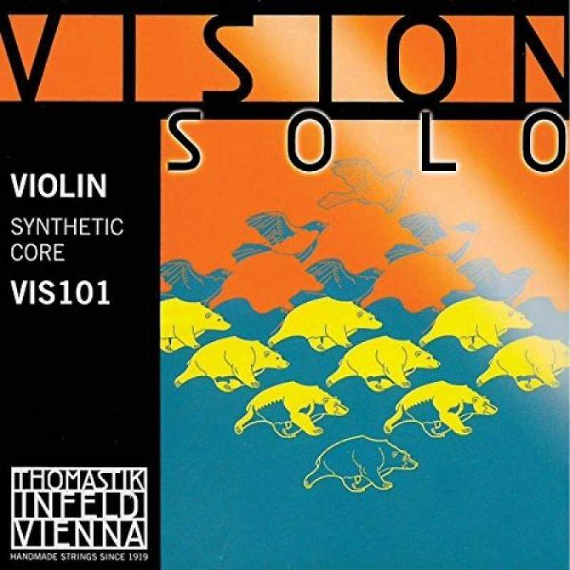 Thomastik Vision Solo 4/4 Violin String Set - Medium Gauge - with Silver Wound D String Malaysia