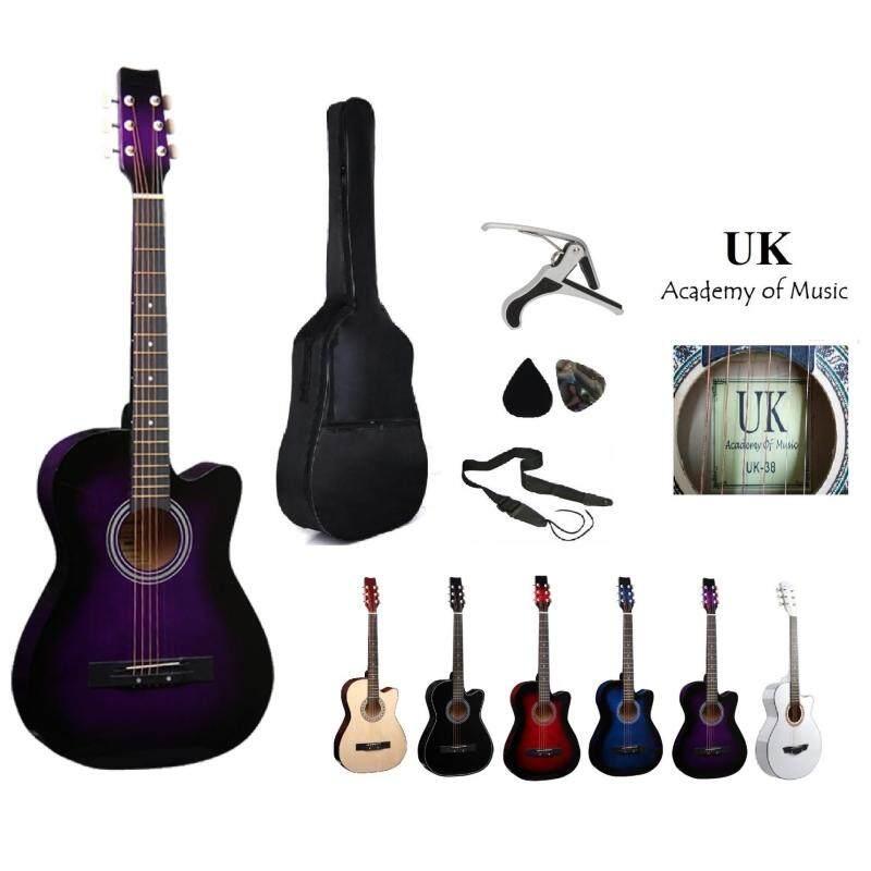 UK Acoustic Guitar 38 Inch (Purple)+Bag+2 Picks+Strap+Capo Malaysia