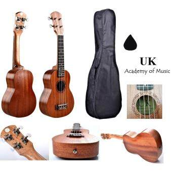 UK Soprano Ukulele 21 Inch Professional Sapelle Wood With Free Ukulele Bag and Ukulele Pick