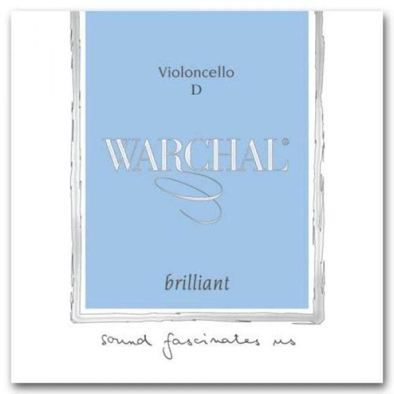 Warchal Brilliant Cello D String - Hyronalium-Silver - Synthetic Core - Medium Malaysia