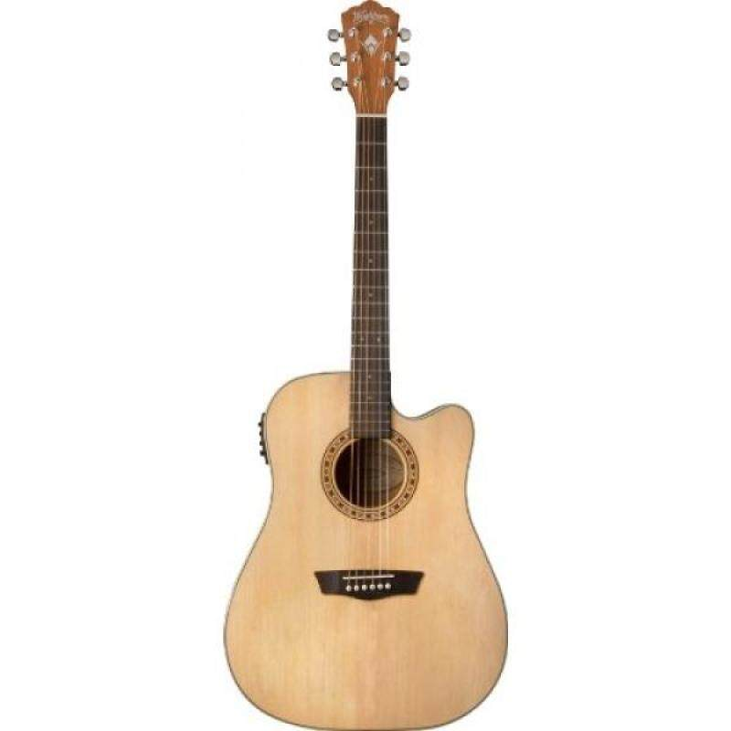 Washburn WD7SCE Harvest Series Solid Sitka Spruce/Mahogany Dreadnought Cutaway Acoustic-Electric Guitar - Natural Gloss Malaysia