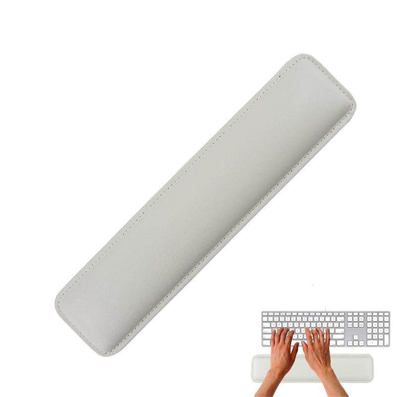 Womdee White Luxury PC Laptop PU Leather Wrist Rest With Meomery Foam For Standard Keyboards Malaysia