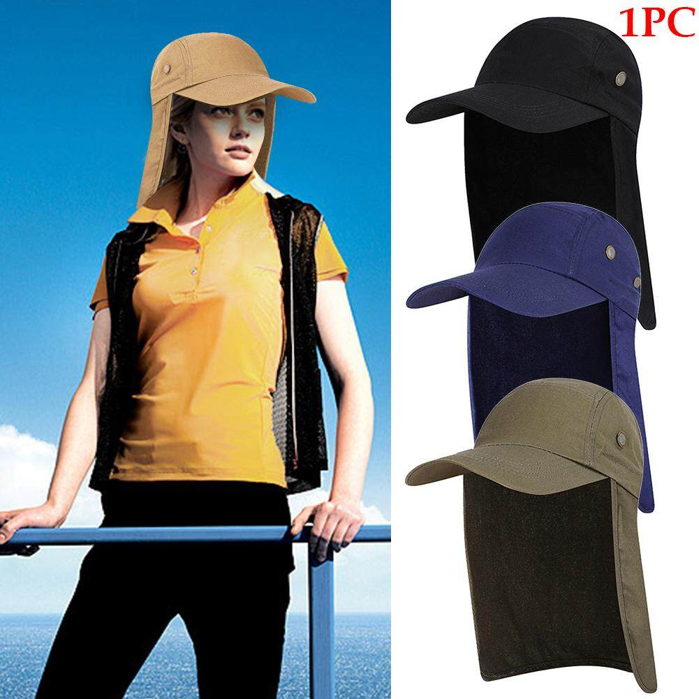 dec9a0341 Summer Sun Hat Protection Caps Flap Outdoor Fishing Hat with Removable Neck  Face Flap Cover, UPF 50+ Cap For Men And Women