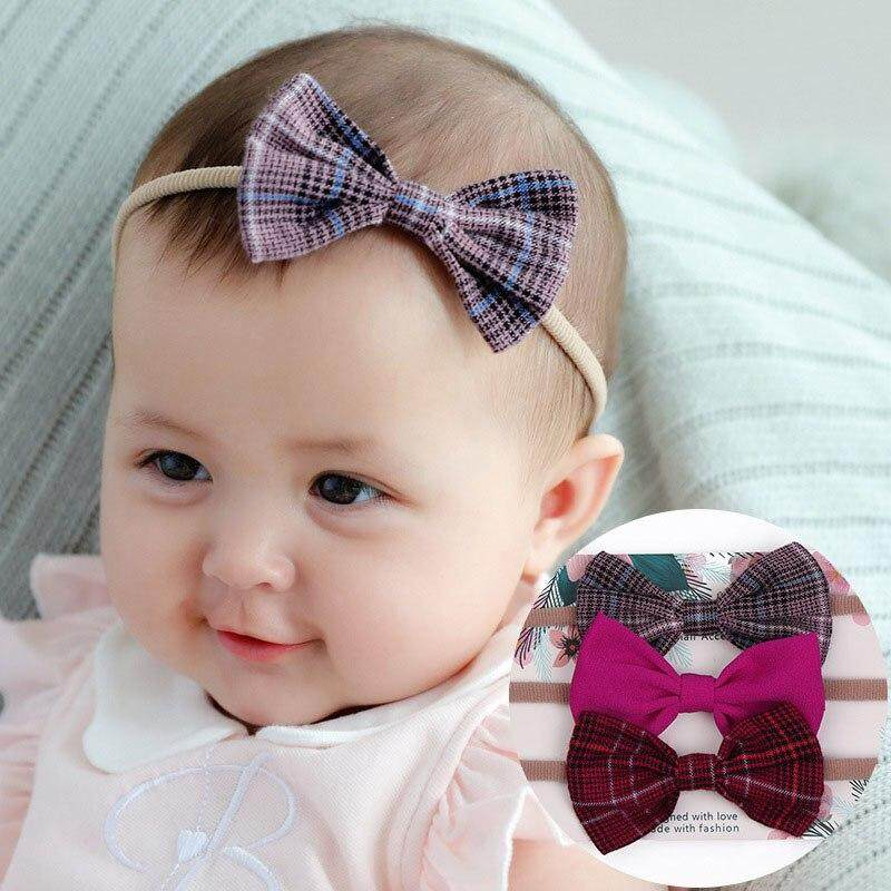 Baby Toddler Girl Flower Bowknot Lace Hairband Headband Elastic Bow Headwear Set Baby Accessories