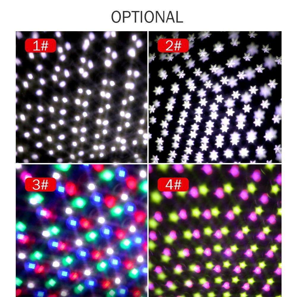 AC85V-240V 5W LEDs Mini Projector Light LEDs Snow Falling Snowflake Stage  Lamp Lighting Fixture Color Disco Lamp for DJ Home Party Decoration
