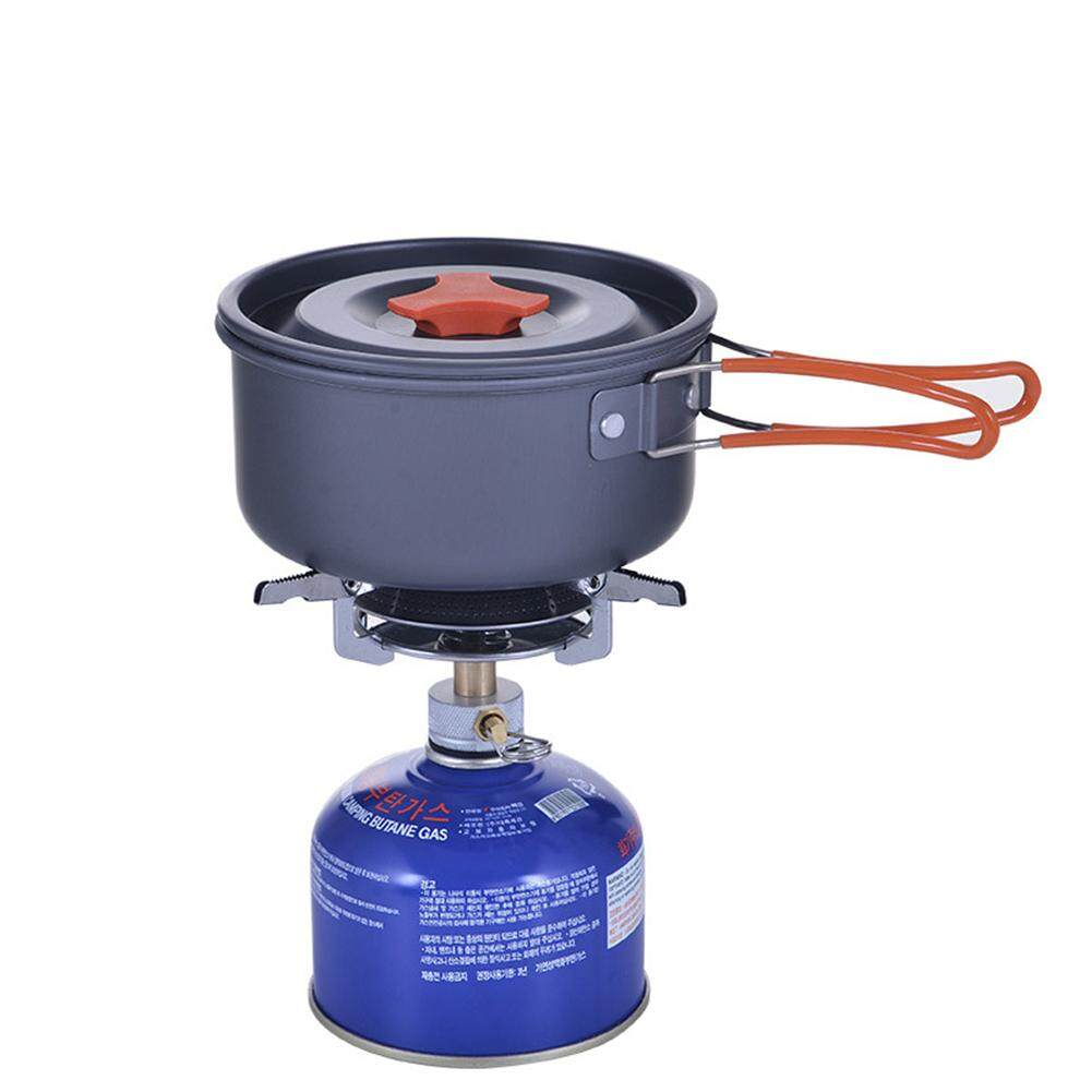 3a0a78d0b69b Camping Cookware Kit Portable Kitchen Pan Pot Set Suitable for 1 to 2  People Hiking Camping