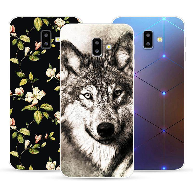5cdd7f6edb4 Phone Case For Samsung Galaxy J6 Plus j600f j610f Case Cover 3D Printing  Soft Silicone Cases fundas Coque for Samsung J6 Plus Bags