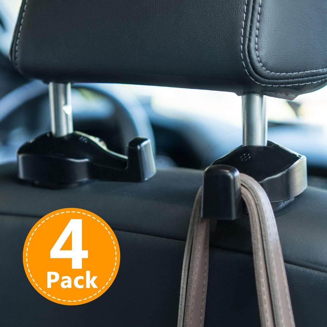 2pcs//set Practical Car Headrest Coat Bag Clip Fastener Seat Back Hanger Hooks