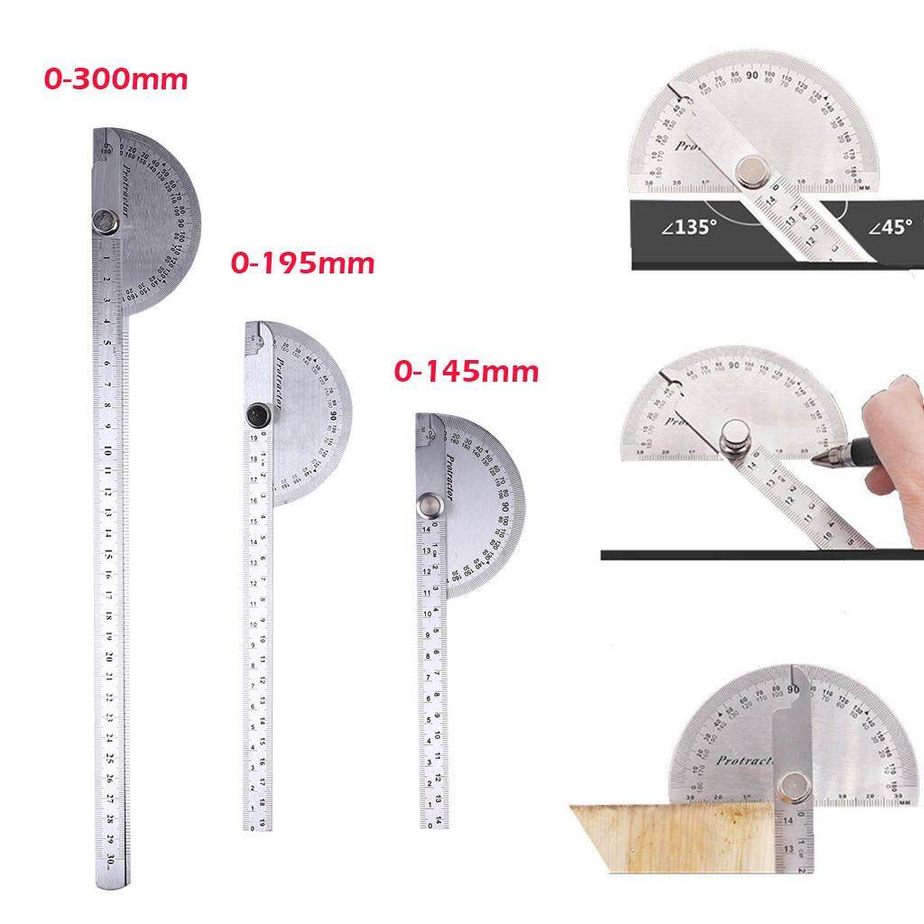Stainless Steel 180° Protractor Angle Finder Arm Rotary Measuring Ruler Tool