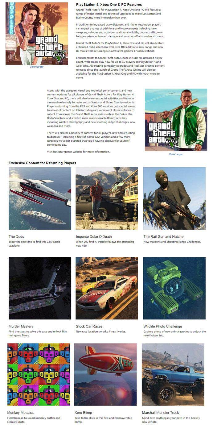 PS4 Grand Theft Auto V (R3) FREE THE CRIMINAL ENTERPRISE STARTER PACK