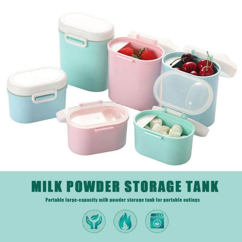 MagicWorldMall Baby Milk Powder Box Polypropylene Food Snacks Feeding  Storage Box Dispenser Sealed Portable Newborn Travel Container Bottle Milk