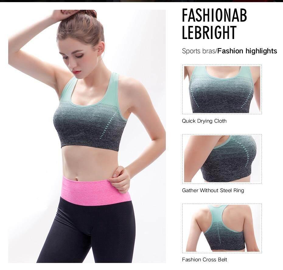 671cd4113d7 High Stretch Breathable Sports Bra Top Fitness Women Padded Sport Bra for Running  Yoga Gym Seamless Crop Bra Gradient. 2 02 03 04 ...