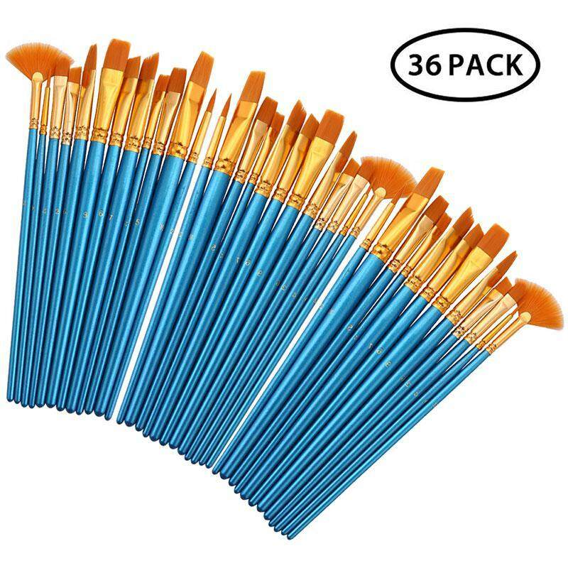 Hiware Acrylic Paint Brush Set, MOGOI Different Sizes Nylon Hair Paint  Brush for Acrylic, Oil, Watercolor, Varnishing, Plein Air Painting, Nice  Gift