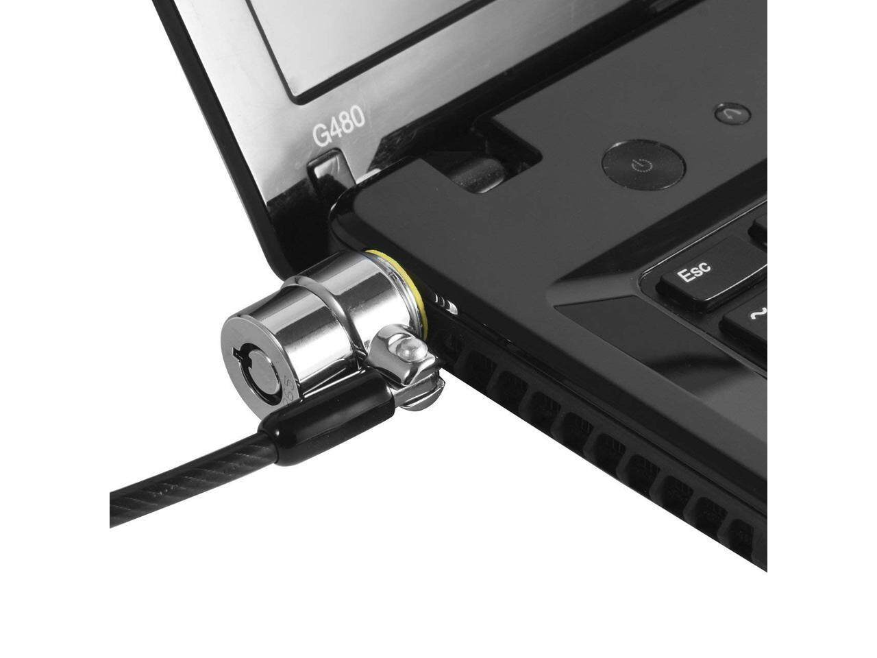 Laptop Cable Lock Hardware Security Cable Lock Anti Theft Lock for iPad Tablet Laptop MacBook and All Other Notebooks and Laptop with Black Anchor